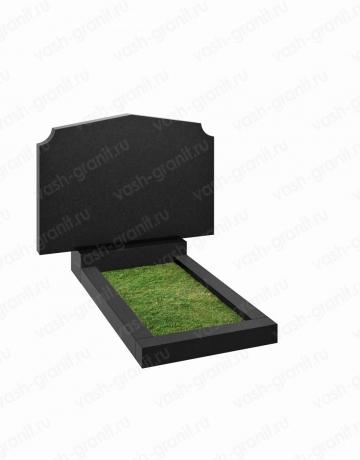Горизонтальный памятник на могилу узкий ВГ-В-201-2