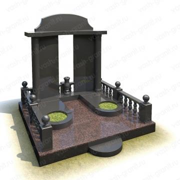 Мемориальный комплекс на могилу из гранита ВГ-В-2