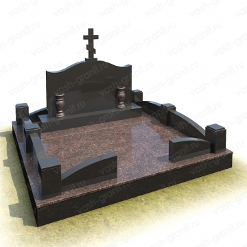 Мемориальный комплекс на могилу из гранита ВГ-В-3