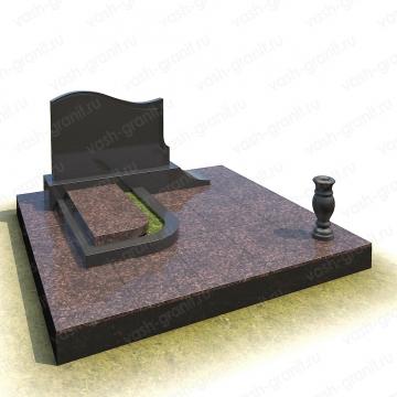 Мемориальный комплекс на могилу из гранита ВГ-В-4