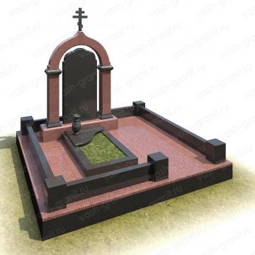 Мемориальный комплекс на могилу из гранита ВГ-В-48