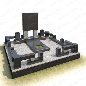 Мемориальный комплекс на могилу из гранита ВГ-В-5