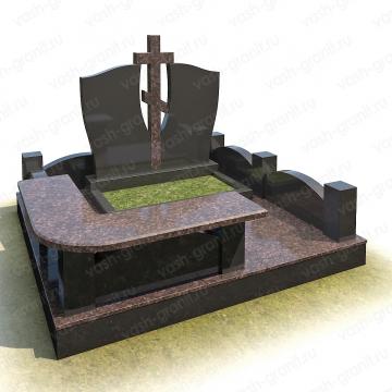 Мемориальный комплекс на могилу из гранита ВГ-В-6
