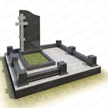 Мемориальный комплекс на могилу из гранита ВГ-В-7