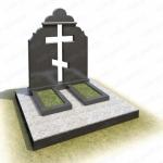 Мемориальный комплекс на могилу из гранита ВГ-В-13