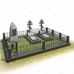Мемориальный комплекс на могилу из гранита ВГ-В-18