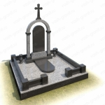 Элитный памятник на могилу из гранита ВГ-В-44
